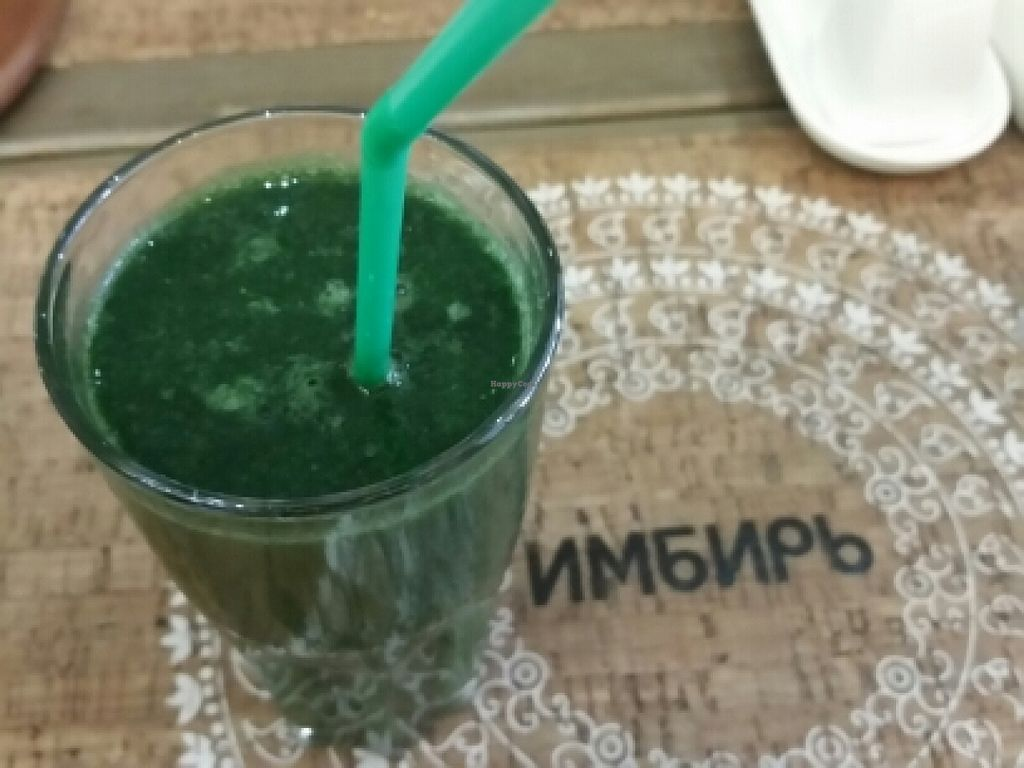 """Photo of Cafe Imbir - Ginger  by <a href=""""/members/profile/eric"""">eric</a> <br/>spirulina and chlorella smoothie <br/> May 15, 2016  - <a href='/contact/abuse/image/34106/149223'>Report</a>"""