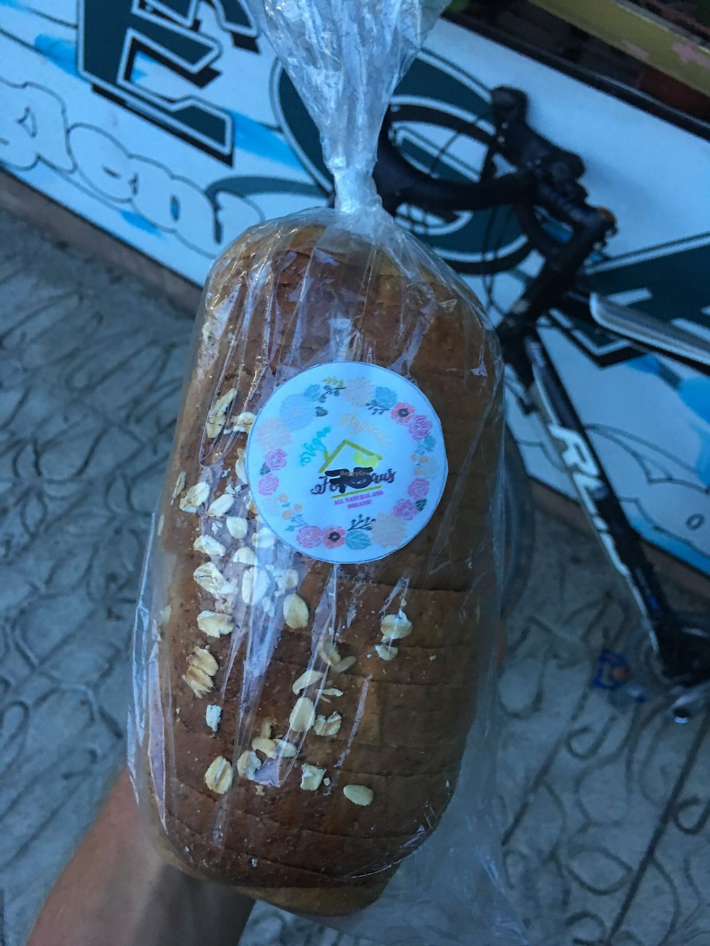 """Photo of Vegan Hygienic Foodhaus  by <a href=""""/members/profile/Durianrider"""">Durianrider</a> <br/>Fresh bread vegan? <br/> October 6, 2017  - <a href='/contact/abuse/image/34114/312228'>Report</a>"""