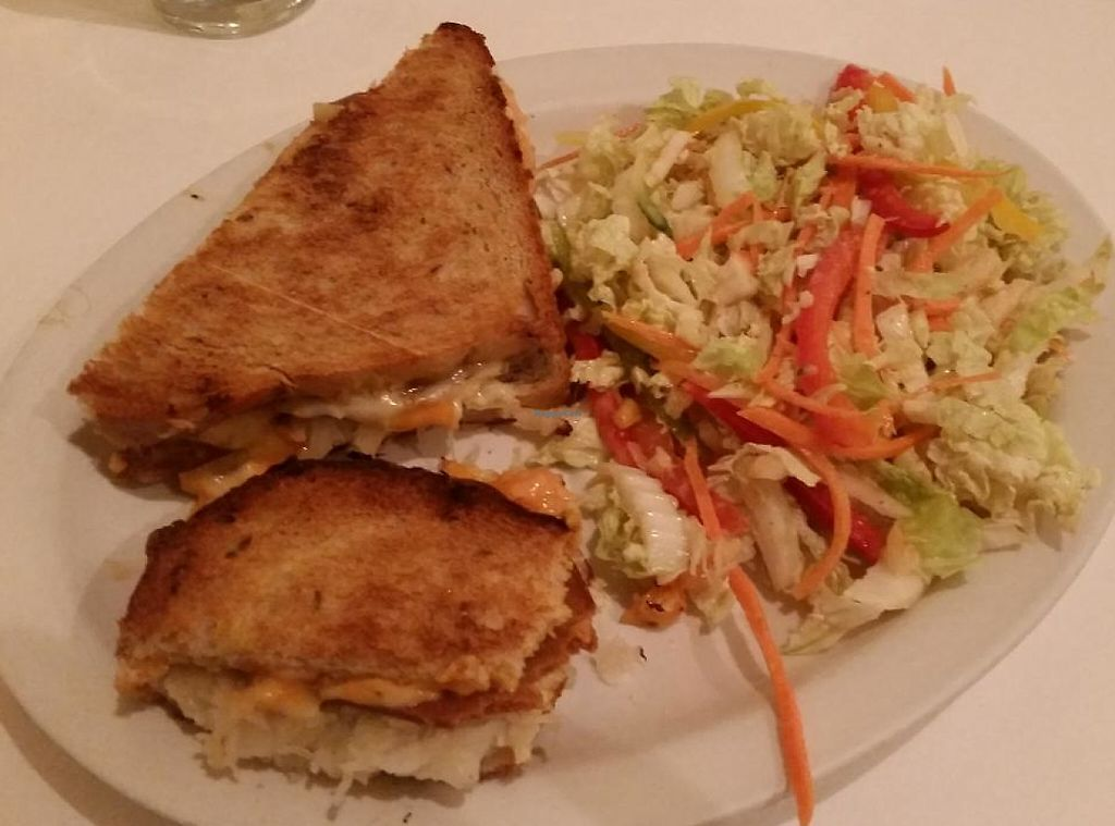"""Photo of Chocolate Maven Bakery and Cafe  by <a href=""""/members/profile/bduboff"""">bduboff</a> <br/>vegetarian ruben sandwich ... very good but would be even better if vegan <br/> March 21, 2015  - <a href='/contact/abuse/image/3411/209213'>Report</a>"""