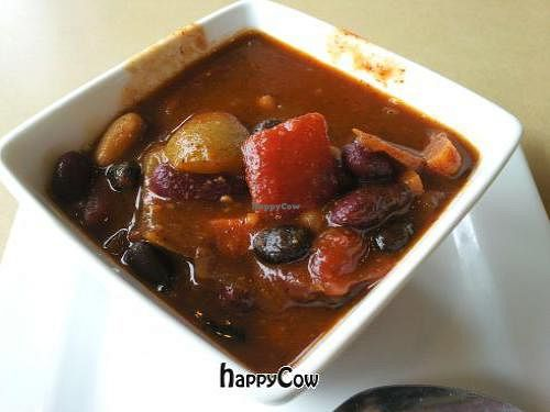 """Photo of Third Coast Spice Cafe  by <a href=""""/members/profile/happycowgirl"""">happycowgirl</a> <br/>veggie chili <br/> September 8, 2012  - <a href='/contact/abuse/image/34185/37726'>Report</a>"""