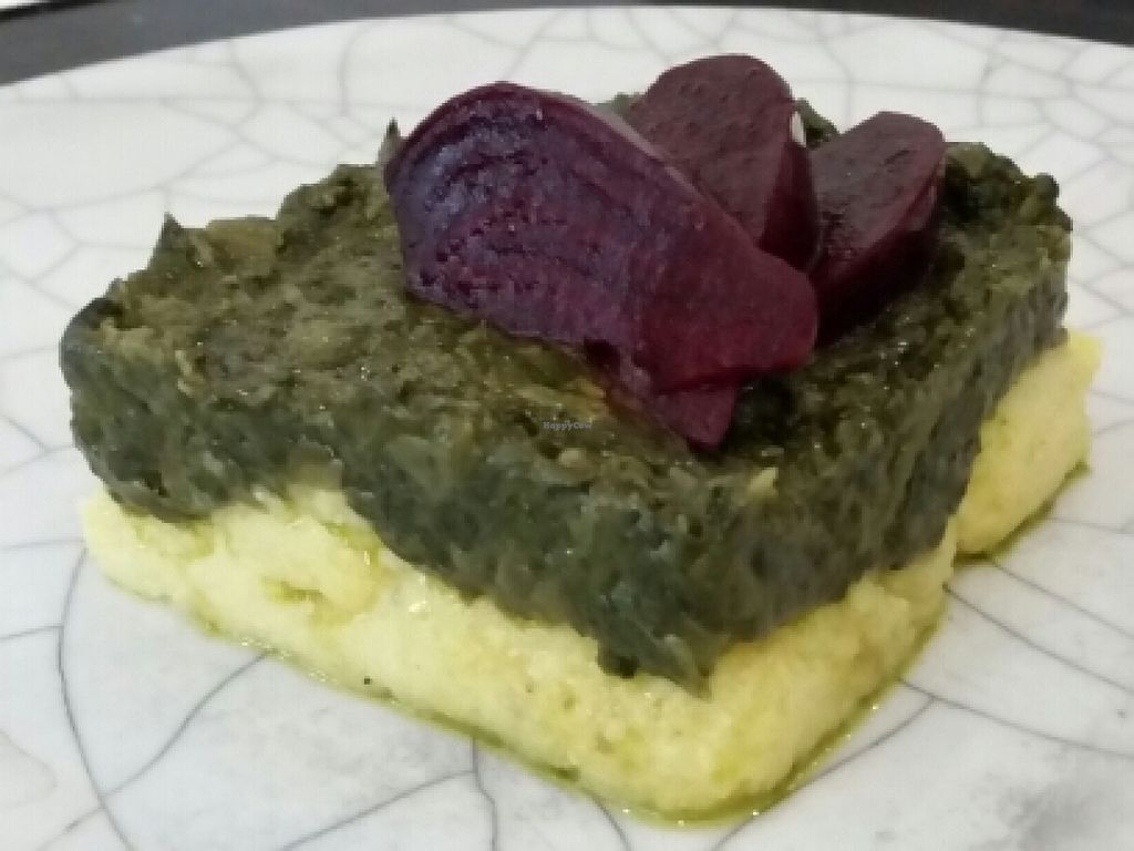 """Photo of Tri  by <a href=""""/members/profile/eric"""">eric</a> <br/>polenta with beets <br/> May 17, 2016  - <a href='/contact/abuse/image/34188/149449'>Report</a>"""