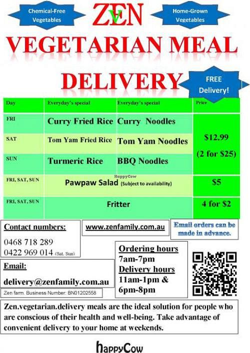 Photo of CLOSED: Zen Vegetarian Delivery  by coolalinga.nt <br/>  <br/> September 22, 2012  - <a href='/contact/abuse/image/34191/38205'>Report</a>