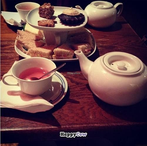 """Photo of The Tea Party - York St  by <a href=""""/members/profile/josee.91"""">josee.91</a> <br/>High tea: half the sammies and the chocolate cake desert was vegan <br/> November 26, 2013  - <a href='/contact/abuse/image/34193/59131'>Report</a>"""