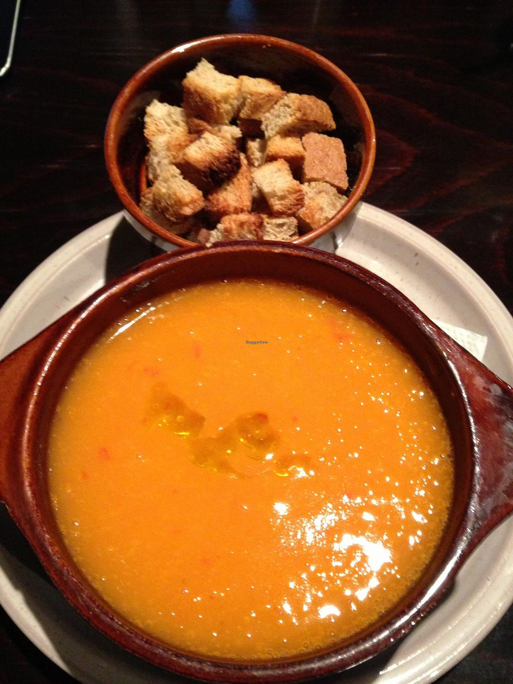 """Photo of CLOSED: BIOFresh 1  by <a href=""""/members/profile/veggieriga"""">veggieriga</a> <br/>BioFresh carrot soup with homemade croutons <br/> January 1, 2014  - <a href='/contact/abuse/image/34247/61458'>Report</a>"""