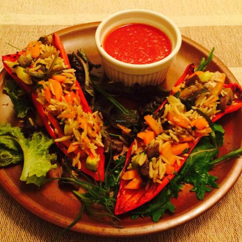 """Photo of CLOSED: BIOFresh 1  by <a href=""""/members/profile/JosephaOrtiz"""">JosephaOrtiz</a> <br/>bellpepper with rice topping and veggies <br/> August 1, 2014  - <a href='/contact/abuse/image/34247/75767'>Report</a>"""