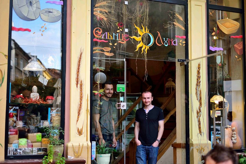"""Photo of Sunmoon Bakery - Septemvri  by <a href=""""/members/profile/karolus"""">karolus</a> <br/>my 2 friends, at the entrance <br/> December 23, 2015  - <a href='/contact/abuse/image/34259/129618'>Report</a>"""
