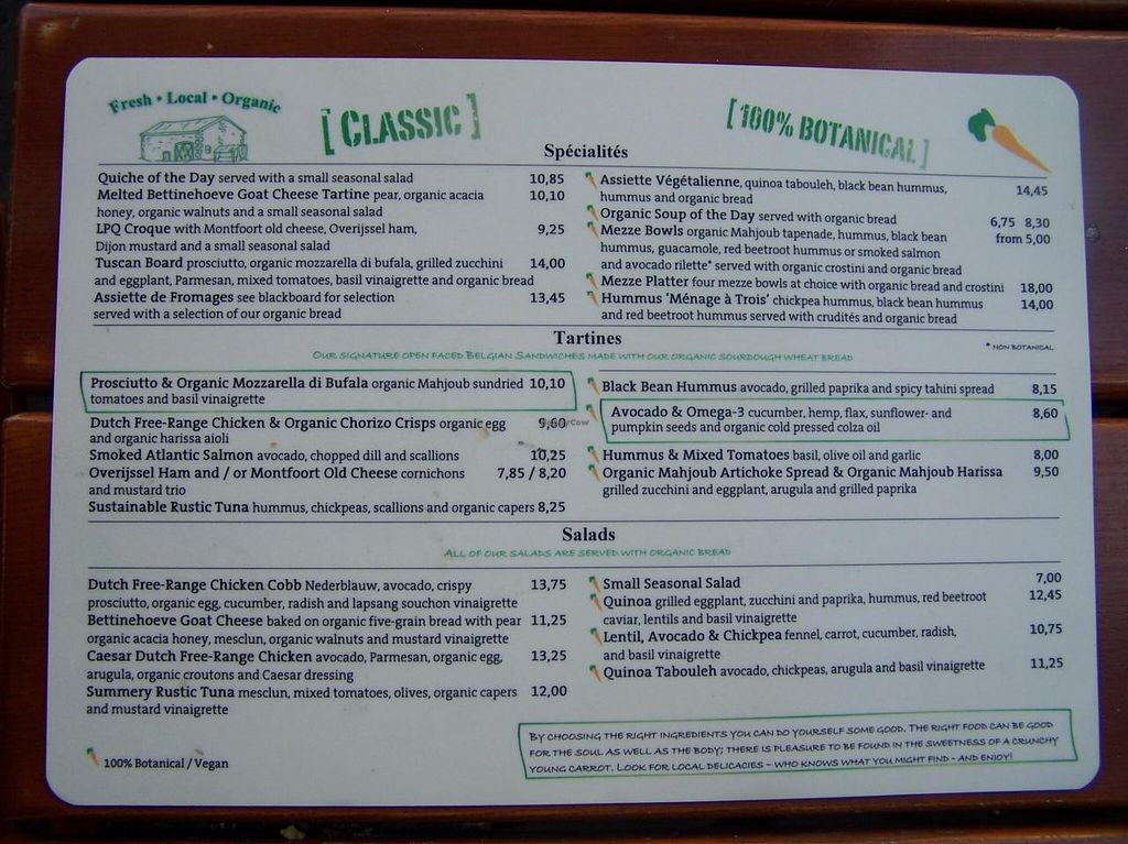 """Photo of Le Pain Quotidien - Spuistraat  by <a href=""""/members/profile/Amy1274"""">Amy1274</a> <br/>Menu, July 2014 <br/> July 20, 2014  - <a href='/contact/abuse/image/34280/74515'>Report</a>"""