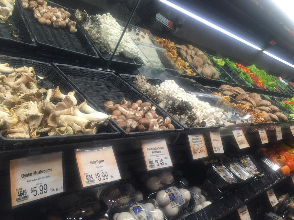 """Photo of Wegman's  by <a href=""""/members/profile/gwild"""">gwild</a> <br/>huge mushroom section <br/> December 20, 2014  - <a href='/contact/abuse/image/34308/88398'>Report</a>"""