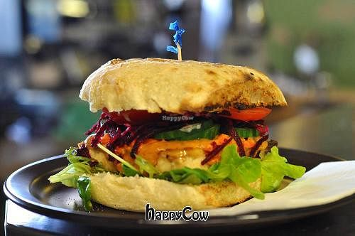 Photo of Giri Kana Cafe  by Victormac <br/>Tofu Burger <br/> December 22, 2012  - <a href='/contact/abuse/image/34310/41802'>Report</a>