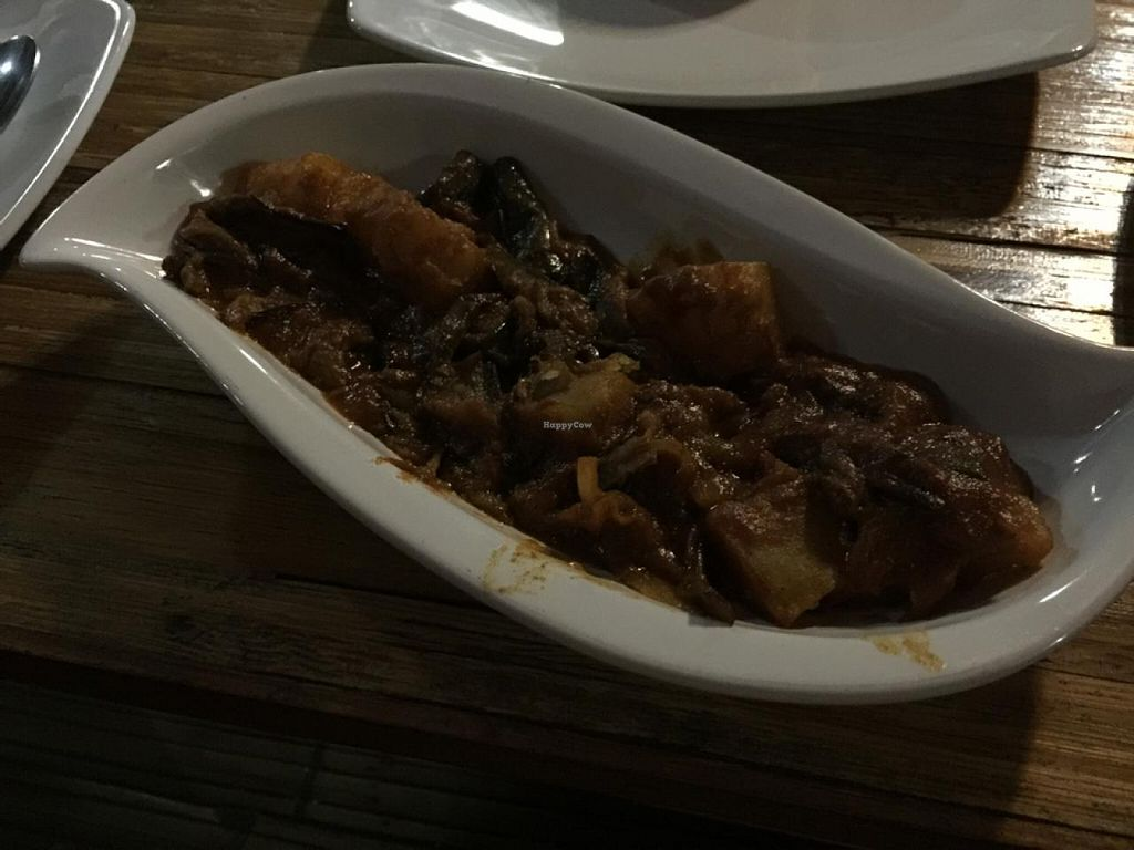 """Photo of Sharaswhaty  by <a href=""""/members/profile/Eric.Deardorff"""">Eric.Deardorff</a> <br/>Some eggplant entree thingie! it was delicious!!! :) <br/> April 9, 2015  - <a href='/contact/abuse/image/34319/98476'>Report</a>"""