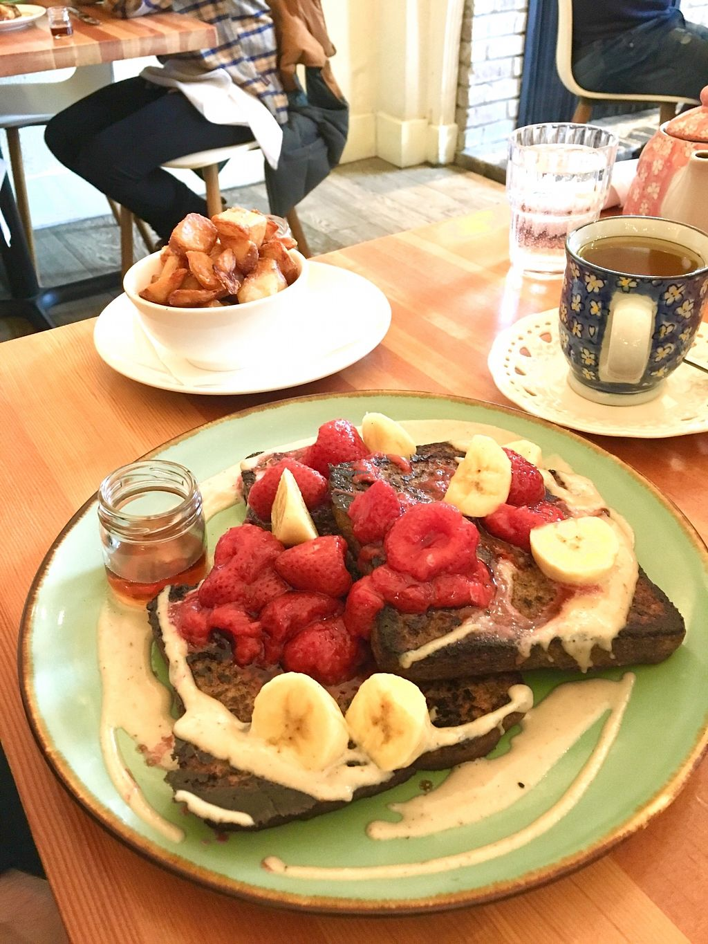 """Photo of Heirloom Vegetarian  by <a href=""""/members/profile/vegan%20frog"""">vegan frog</a> <br/>Gluten free French toast <br/> April 12, 2018  - <a href='/contact/abuse/image/34325/384315'>Report</a>"""
