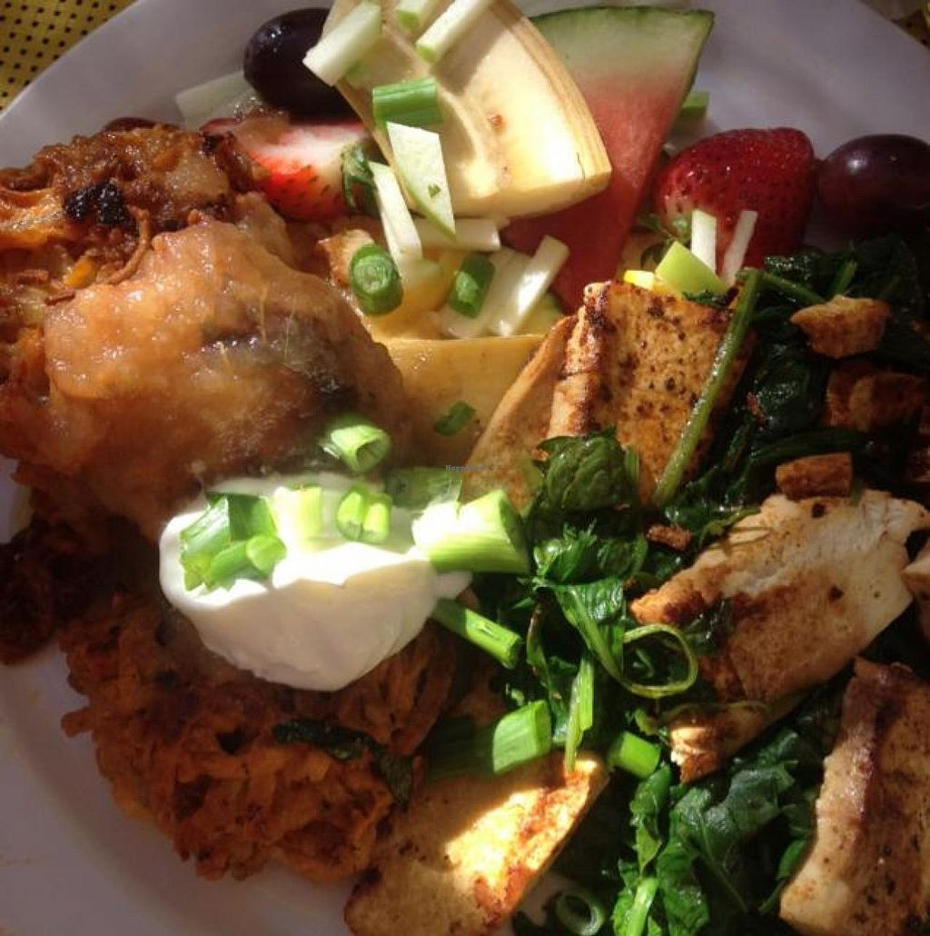 "Photo of Rainbow Restaurant  by <a href=""/members/profile/ljmp2571"">ljmp2571</a> <br/>sweet potato pancakes with spinach and grilled tofu <br/> October 30, 2014  - <a href='/contact/abuse/image/3432/84246'>Report</a>"