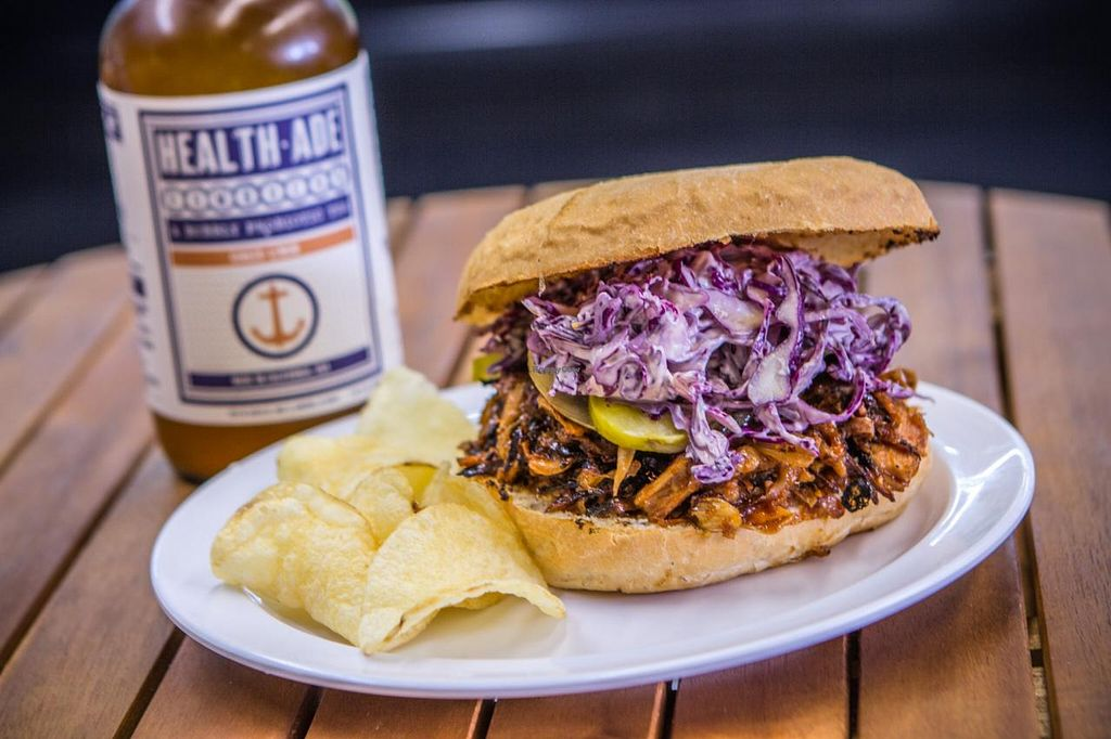 "Photo of Organix LA  by <a href=""/members/profile/organixla"">organixla</a> <br/>Vegan Pull Pork Sandwich  <br/> March 19, 2014  - <a href='/contact/abuse/image/34347/66173'>Report</a>"