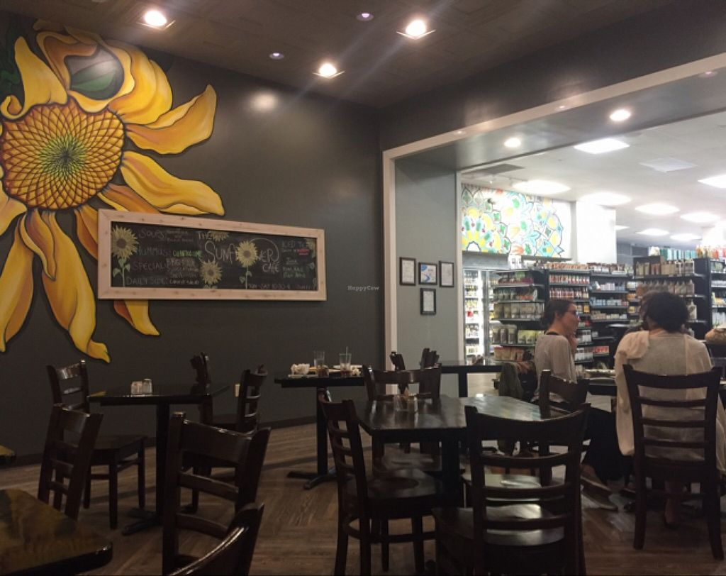 "Photo of Sunflower Cafe  by <a href=""/members/profile/lbm58"">lbm58</a> <br/>Open, cheerful dining room at the rear of Virginia's Health Food store <br/> April 16, 2016  - <a href='/contact/abuse/image/34362/144876'>Report</a>"