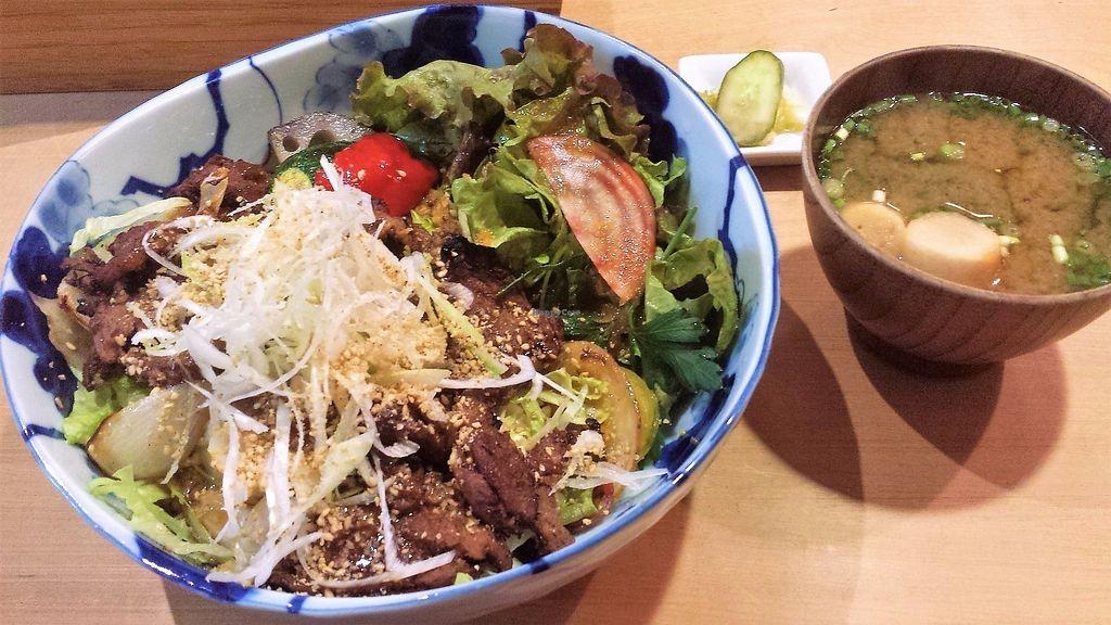 "Photo of Tamana Shokudo  by <a href=""/members/profile/Vegan%20Yoko"">Vegan Yoko</a> <br/>Soy meat donburi <br/> June 19, 2017  - <a href='/contact/abuse/image/34363/270801'>Report</a>"