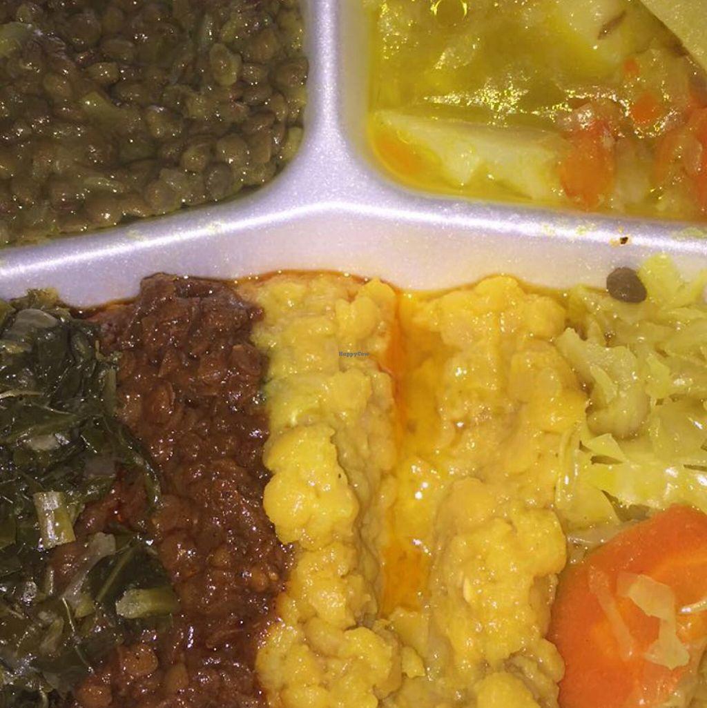 "Photo of Elsa's Ethiopian Restaurant  by <a href=""/members/profile/DaniJones"">DaniJones</a> <br/>Vegetarian combo (Actually Vegan!) <br/> May 28, 2017  - <a href='/contact/abuse/image/34367/263224'>Report</a>"
