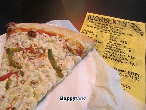 """Photo of Norbert's Pizza - Bushwick  by <a href=""""/members/profile/tsmith6"""">tsmith6</a> <br/>Daiya cheese & vegetables <br/> July 20, 2013  - <a href='/contact/abuse/image/34391/51647'>Report</a>"""