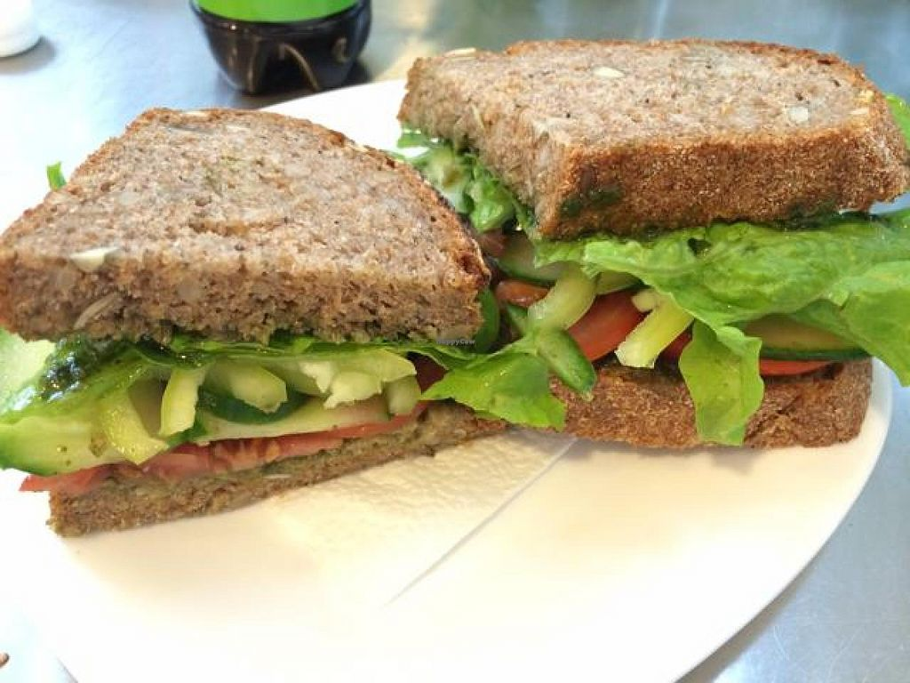 "Photo of CLOSED: Vegan Kitsch  by <a href=""/members/profile/DaniM"">DaniM</a> <br/>Vegan Sandwich with homemade pesto <br/> September 23, 2014  - <a href='/contact/abuse/image/34411/80854'>Report</a>"