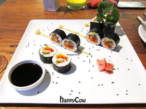 """Photo of CLOSED: M.A.K.E. Raw Cuisine  by <a href=""""/members/profile/sglcklch"""">sglcklch</a> <br/>Nori rolls <br/> May 6, 2013  - <a href='/contact/abuse/image/34421/47847'>Report</a>"""
