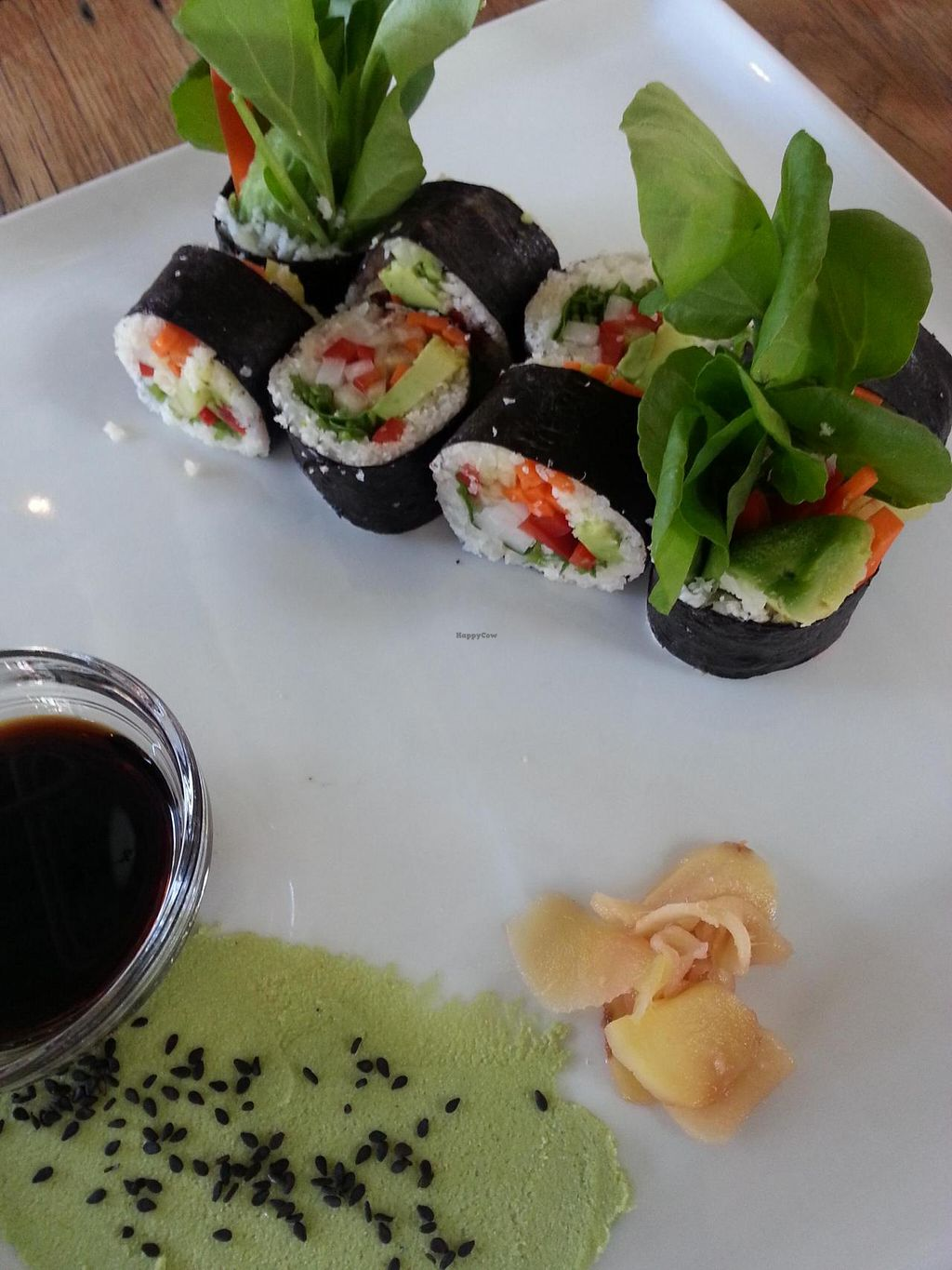 """Photo of CLOSED: M.A.K.E. Raw Cuisine  by <a href=""""/members/profile/radtechg9"""">radtechg9</a> <br/>raw nori rolls with jicama 'rice' <br/> May 14, 2014  - <a href='/contact/abuse/image/34421/69998'>Report</a>"""
