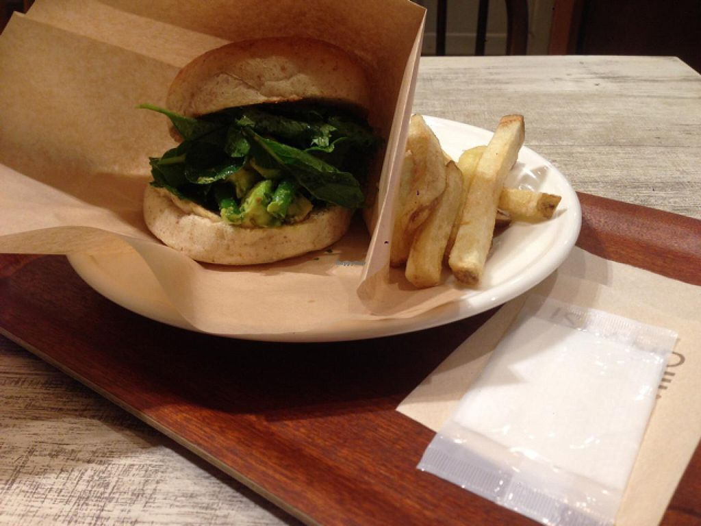 """Photo of CLOSED: Acai Cafe - Island Veggie  by <a href=""""/members/profile/Sarahmrussell"""">Sarahmrussell</a> <br/>veggie burger <br/> June 21, 2015  - <a href='/contact/abuse/image/34446/106825'>Report</a>"""