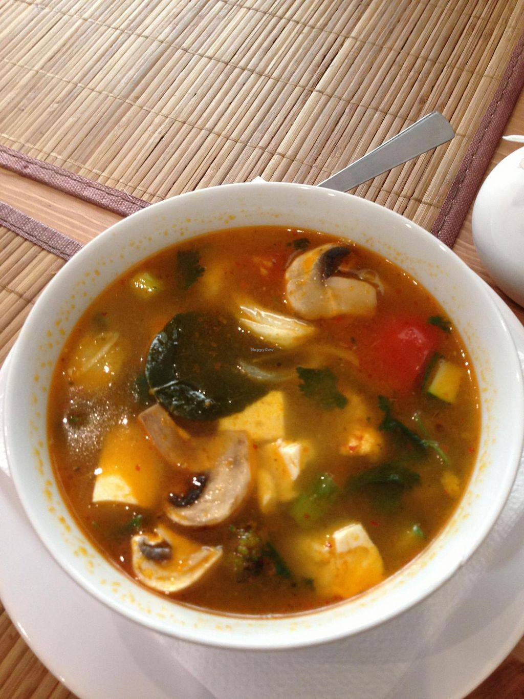 "Photo of ThaiWok  by <a href=""/members/profile/Vegeiko"">Vegeiko</a> <br/>Vegetarian Tom Yum Soup <br/> July 3, 2014  - <a href='/contact/abuse/image/34470/73135'>Report</a>"