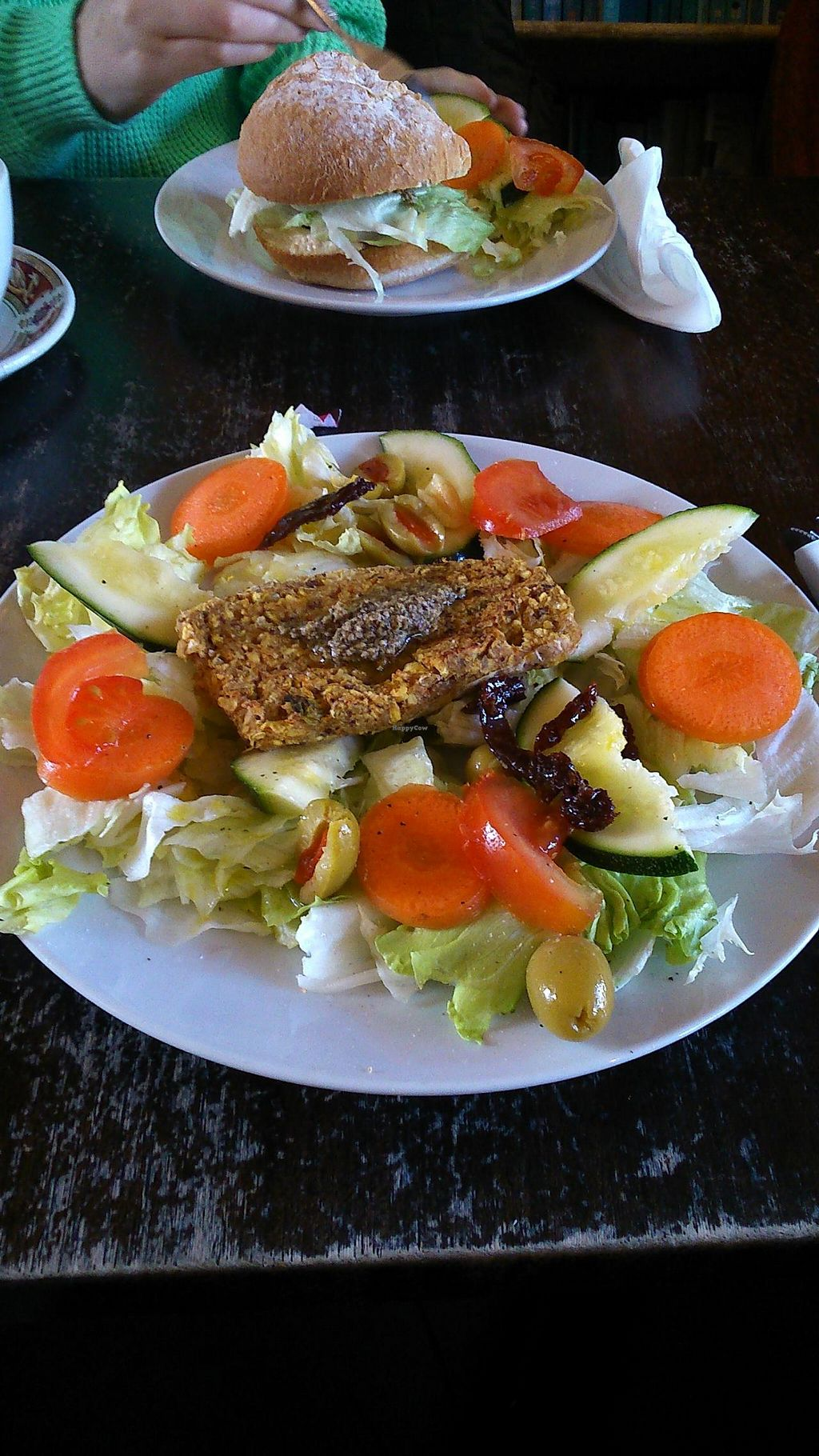 "Photo of CLOSED: CB1 Internet Cafe  by <a href=""/members/profile/saramarshall"">saramarshall</a> <br/>Lentil burger with salad plate <br/> March 21, 2014  - <a href='/contact/abuse/image/34488/66239'>Report</a>"