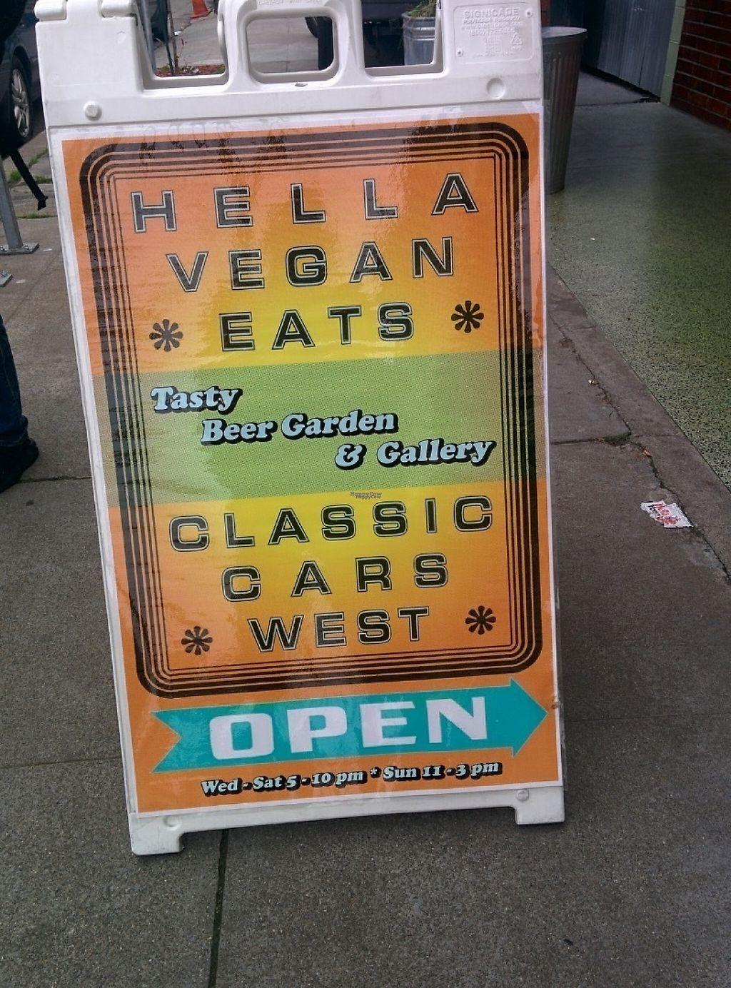 "Photo of Hella Vegan Eats  by <a href=""/members/profile/MizzB"">MizzB</a> <br/>Street sign <br/> December 1, 2016  - <a href='/contact/abuse/image/34528/196155'>Report</a>"