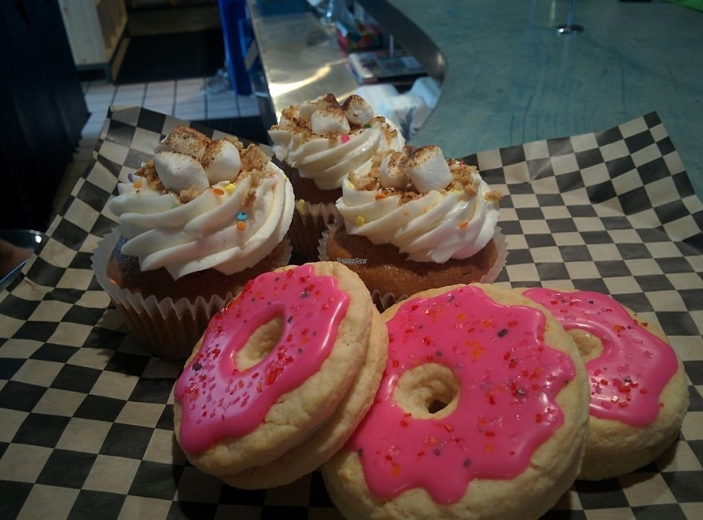 "Photo of Hella Vegan Eats  by <a href=""/members/profile/MizzB"">MizzB</a> <br/>Cupcakes & cookies, today's dessert options <br/> December 1, 2016  - <a href='/contact/abuse/image/34528/196162'>Report</a>"
