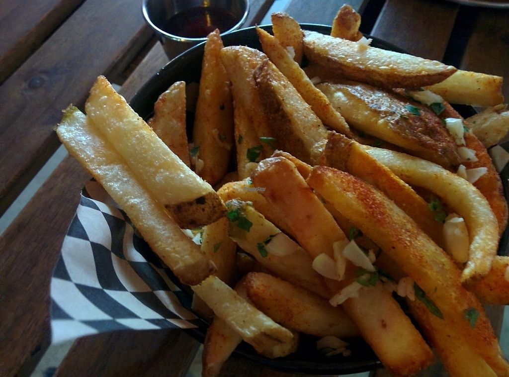 "Photo of Hella Vegan Eats  by <a href=""/members/profile/MizzB"">MizzB</a> <br/>Side of fries, with fresh garlic & parsley <br/> December 1, 2016  - <a href='/contact/abuse/image/34528/196163'>Report</a>"