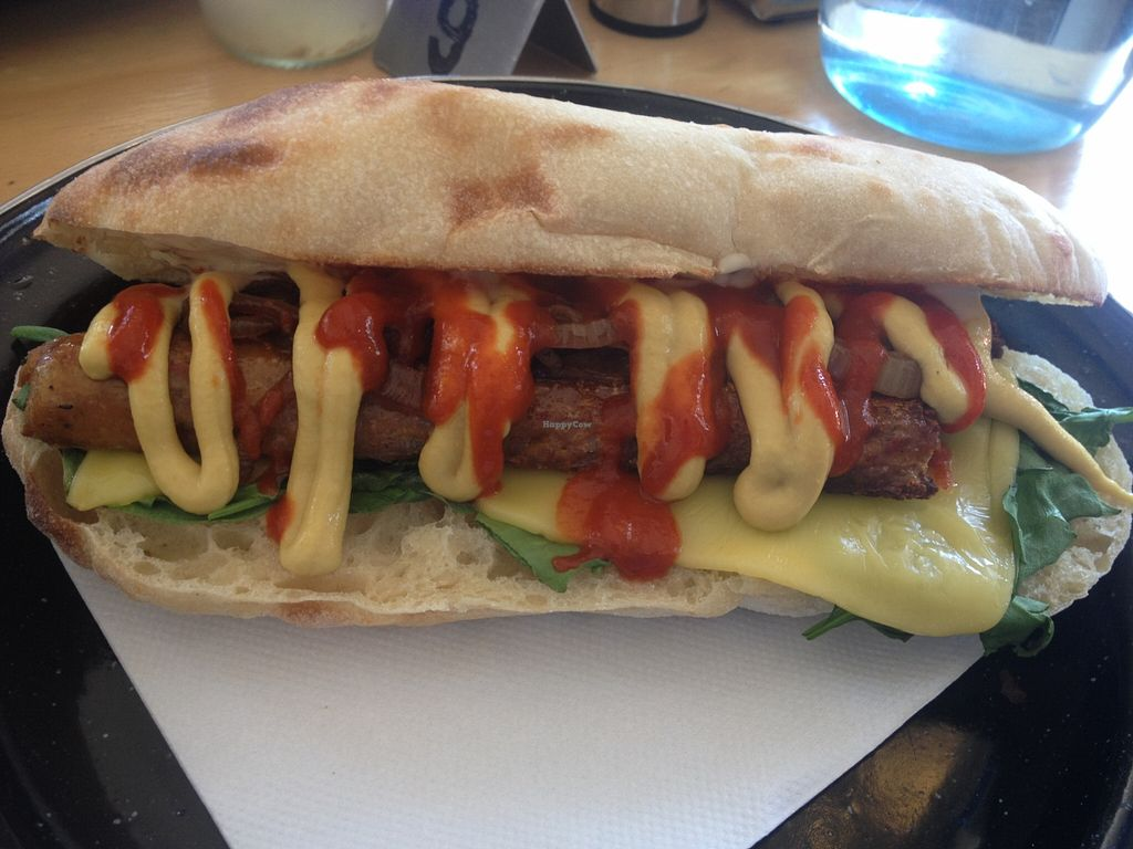 """Photo of Suzy Spoon's Vegetarian Butcher  by <a href=""""/members/profile/vegan_ryan"""">vegan_ryan</a> <br/>Spicy hot dog <br/> January 17, 2016  - <a href='/contact/abuse/image/34575/132706'>Report</a>"""