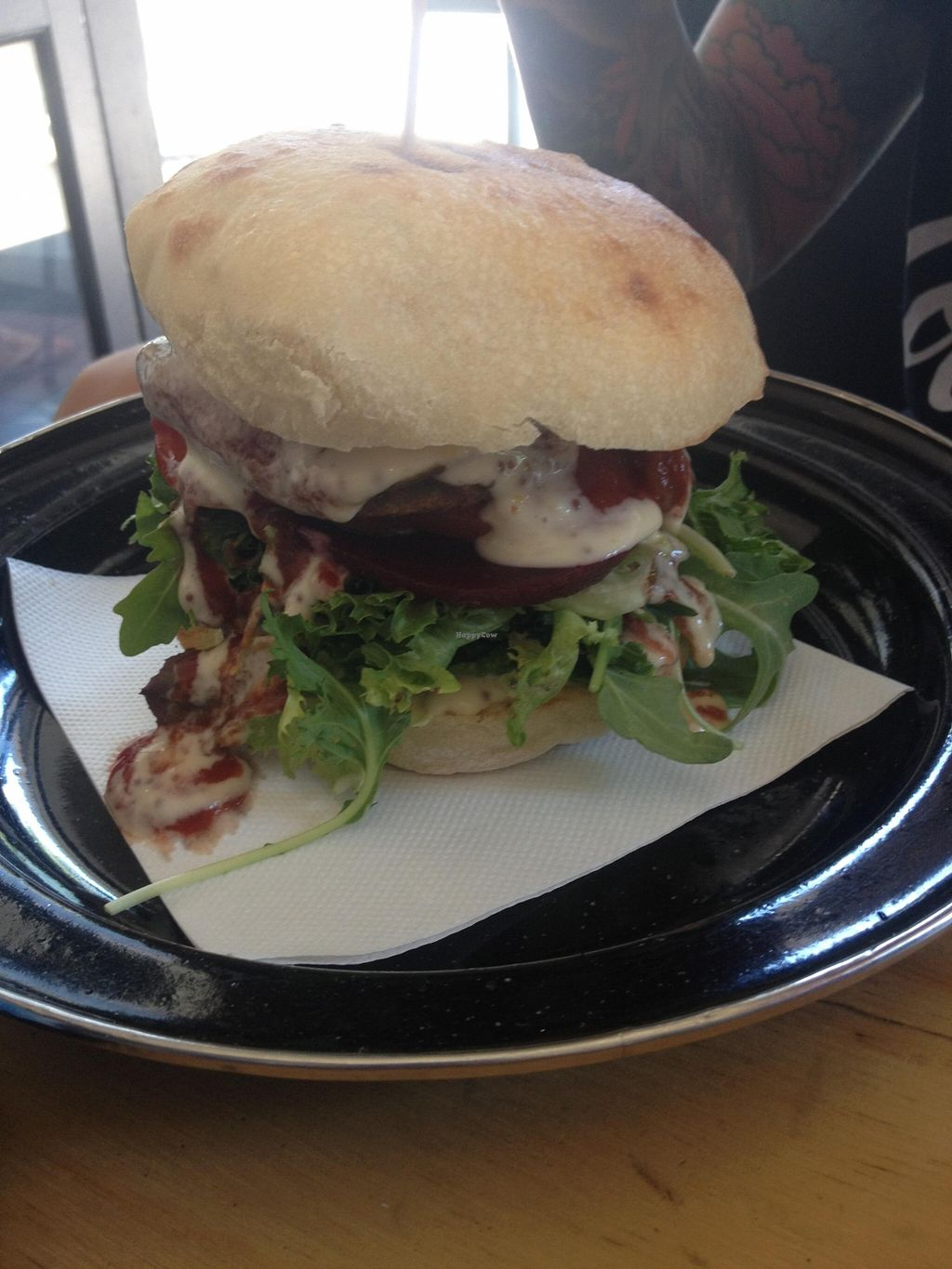 """Photo of Suzy Spoon's Vegetarian Butcher  by <a href=""""/members/profile/vegan_ryan"""">vegan_ryan</a> <br/>Schnitzel burger <br/> January 17, 2016  - <a href='/contact/abuse/image/34575/132707'>Report</a>"""