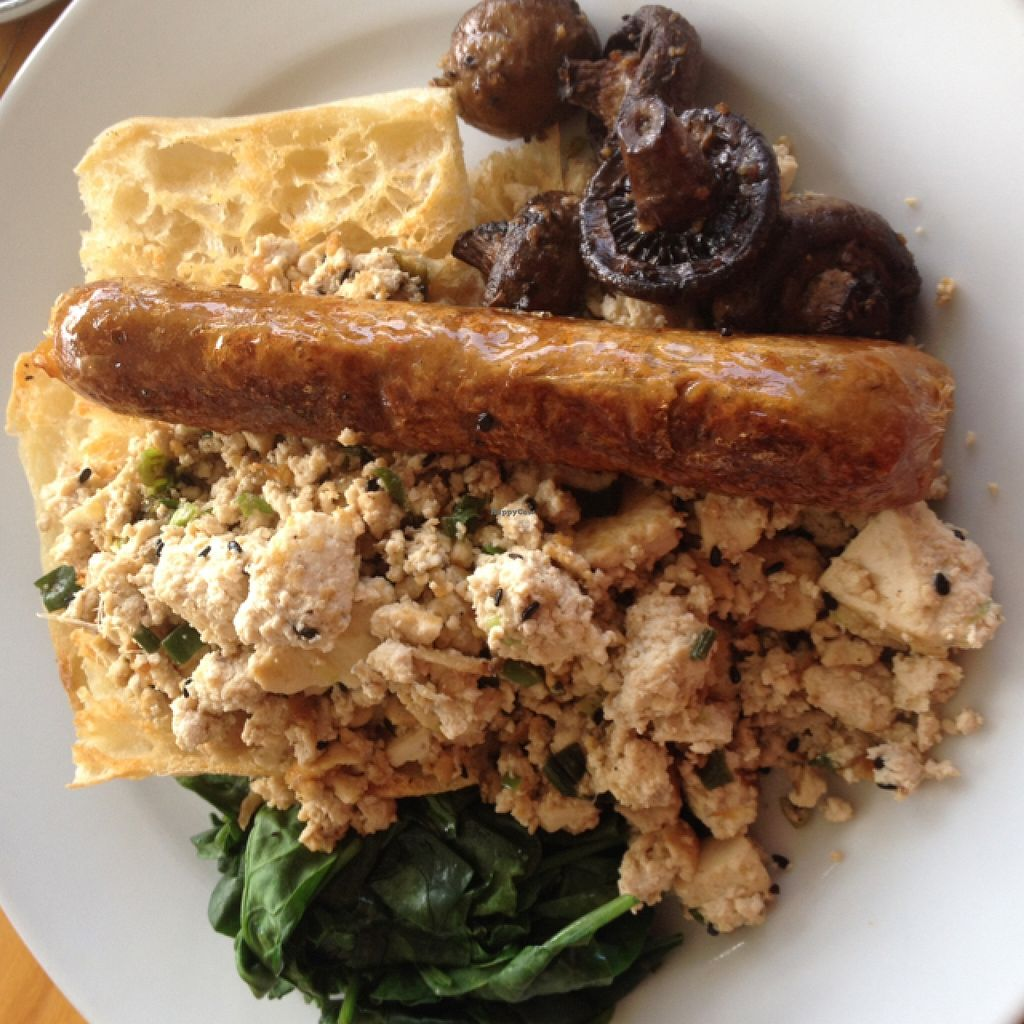 """Photo of Suzy Spoon's Vegetarian Butcher  by <a href=""""/members/profile/chapstick"""">chapstick</a> <br/>tofu scramble with sneaky extra sausage (the chilli & paprika yum!) <br/> March 13, 2016  - <a href='/contact/abuse/image/34575/139908'>Report</a>"""