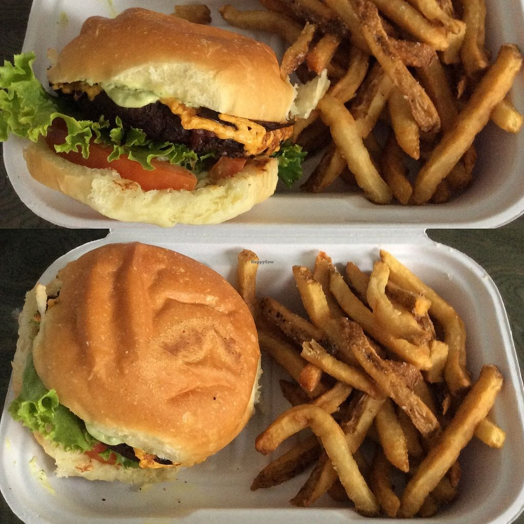 "Photo of Chickpea & Olive  by <a href=""/members/profile/Arik"">Arik</a> <br/>The BBQ Ranch burger ? with ? The flavors of the BBQ & other flavors makes it taste delicious  <br/> August 14, 2017  - <a href='/contact/abuse/image/34582/292683'>Report</a>"
