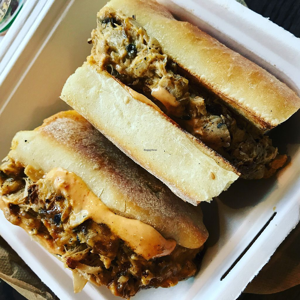 "Photo of Chickpea & Olive  by <a href=""/members/profile/The%20London%20Vegan"">The London Vegan</a> <br/>Chkn steak sandwich (jackfruit)  <br/> November 11, 2017  - <a href='/contact/abuse/image/34582/324343'>Report</a>"