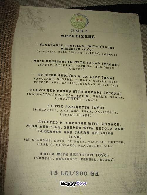 "Photo of CLOSED: Omra Elias  by <a href=""/members/profile/kenvegan"">kenvegan</a> <br/>Omra Elias appetizer menu page <br/> September 23, 2013  - <a href='/contact/abuse/image/34593/55542'>Report</a>"