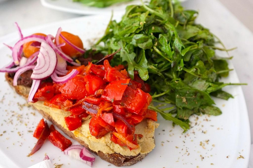 """Photo of CLOSED: The Hive  by <a href=""""/members/profile/Barbara%20Primo"""">Barbara Primo</a> <br/>Delicious bruschette, olives, tomato and pepperoni <br/> May 23, 2014  - <a href='/contact/abuse/image/34614/70543'>Report</a>"""
