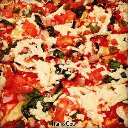 """Photo of CLOSED: Donnie's Homespun  by <a href=""""/members/profile/veganmiss"""">veganmiss</a> <br/>vegan pizza with daiya <br/> January 16, 2013  - <a href='/contact/abuse/image/34623/42999'>Report</a>"""
