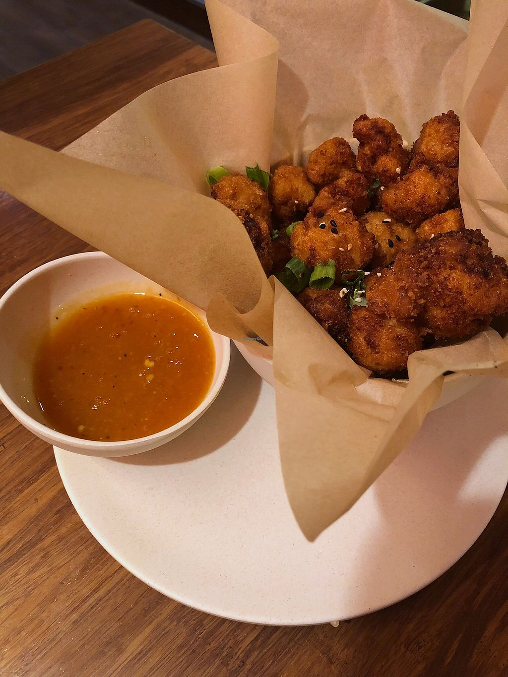 """Photo of Veggie Grill - University Village  by <a href=""""/members/profile/KerryElise"""">KerryElise</a> <br/>Crispy cauliflower with orange sauce  <br/> March 30, 2018  - <a href='/contact/abuse/image/34627/378335'>Report</a>"""