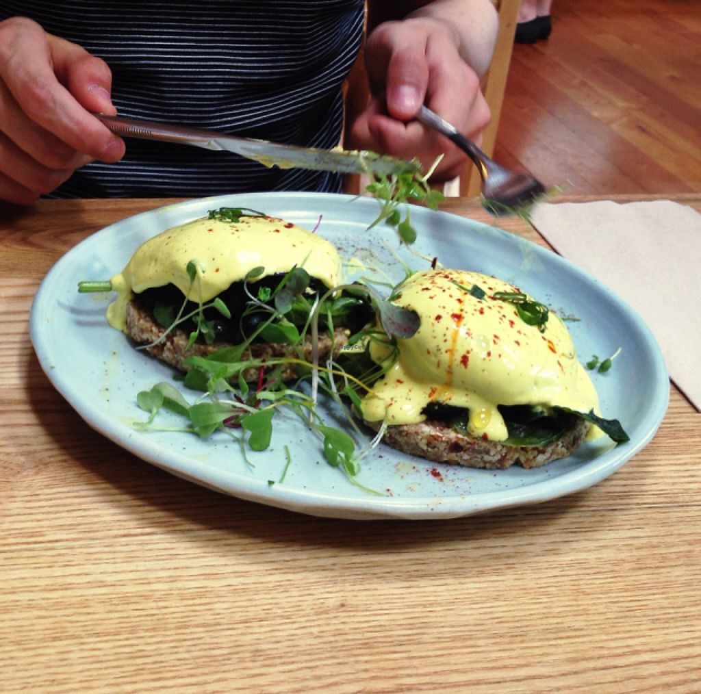 """Photo of CLOSED: Little Bird Organics - Kingsland  by <a href=""""/members/profile/PJantbased"""">PJantbased</a> <br/>mushrooms Benedict  <br/> January 11, 2016  - <a href='/contact/abuse/image/34645/132117'>Report</a>"""