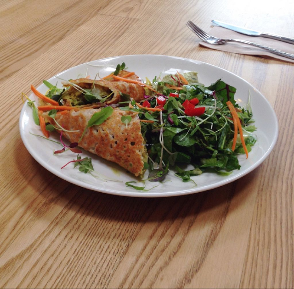 """Photo of CLOSED: Little Bird Organics - Kingsland  by <a href=""""/members/profile/PJantbased"""">PJantbased</a> <br/>savoury crepe wrap <br/> January 11, 2016  - <a href='/contact/abuse/image/34645/132118'>Report</a>"""