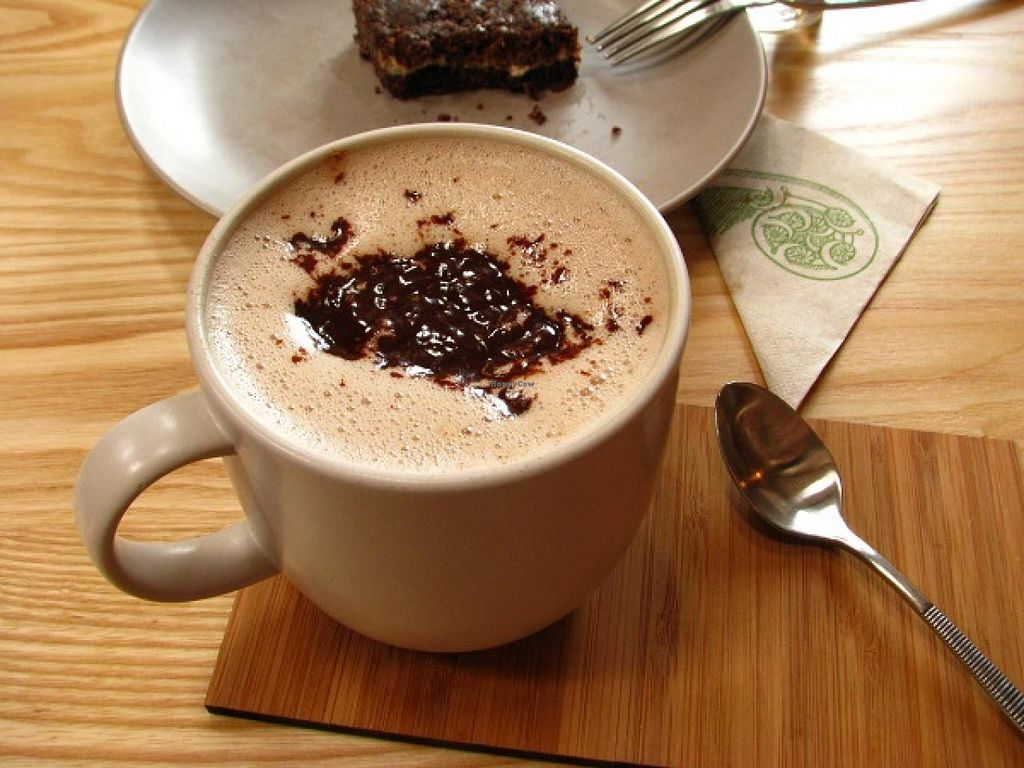 """Photo of CLOSED: Little Bird Organics - Kingsland  by <a href=""""/members/profile/annabelle.atkins"""">annabelle.atkins</a> <br/>raw hot chocolate and mint fudge <br/> January 8, 2014  - <a href='/contact/abuse/image/34645/62135'>Report</a>"""