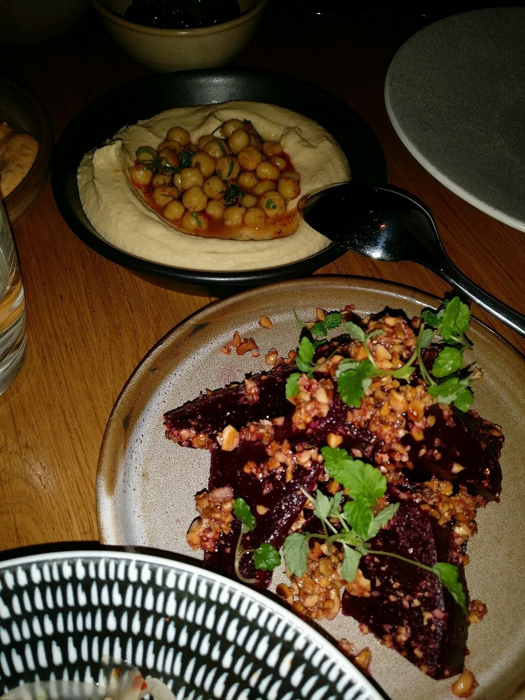 """Photo of Maha Restaurant  by <a href=""""/members/profile/Aloo"""">Aloo</a> <br/>amazing beetroot dish and hummus  <br/> August 27, 2017  - <a href='/contact/abuse/image/34718/297719'>Report</a>"""