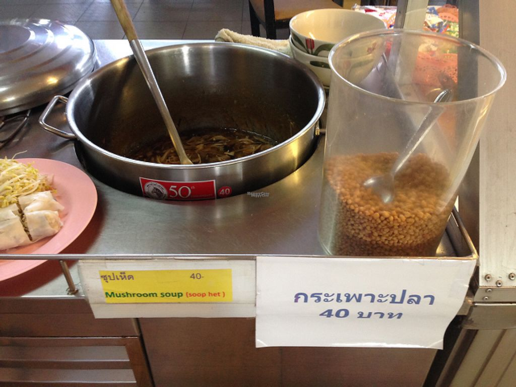 "Photo of Tawanthong Restaurant and Shop  by <a href=""/members/profile/Tofulicious"">Tofulicious</a> <br/>Mushroom Soup <br/> January 29, 2017  - <a href='/contact/abuse/image/3471/218777'>Report</a>"