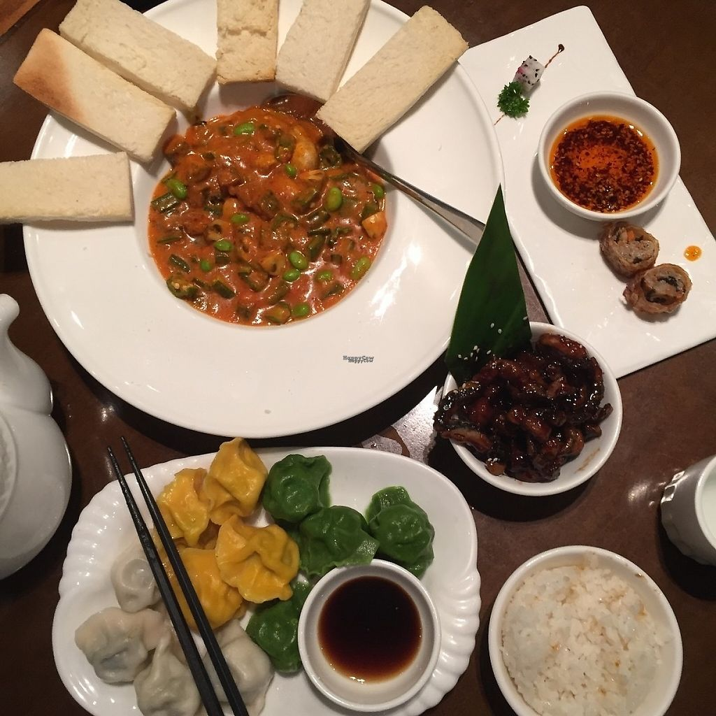 "Photo of Vegetarian Life Style - Zao Zi Shu - JiangNing  by <a href=""/members/profile/CharlieDenman"">CharlieDenman</a> <br/>Curry, dumplings, rice, fried mushrooms and i can't remember what the rolls things are on the right - but were yummy! <br/> November 19, 2016  - <a href='/contact/abuse/image/3473/192169'>Report</a>"