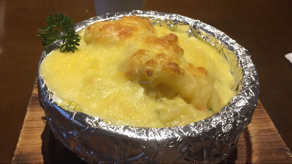 "Photo of Vegetarian Life Style - Zao Zi Shu - JiangNing  by <a href=""/members/profile/Nirankarkaur"">Nirankarkaur</a> <br/>Baked potato mash with vegan cheese <br/> May 7, 2017  - <a href='/contact/abuse/image/3473/256688'>Report</a>"