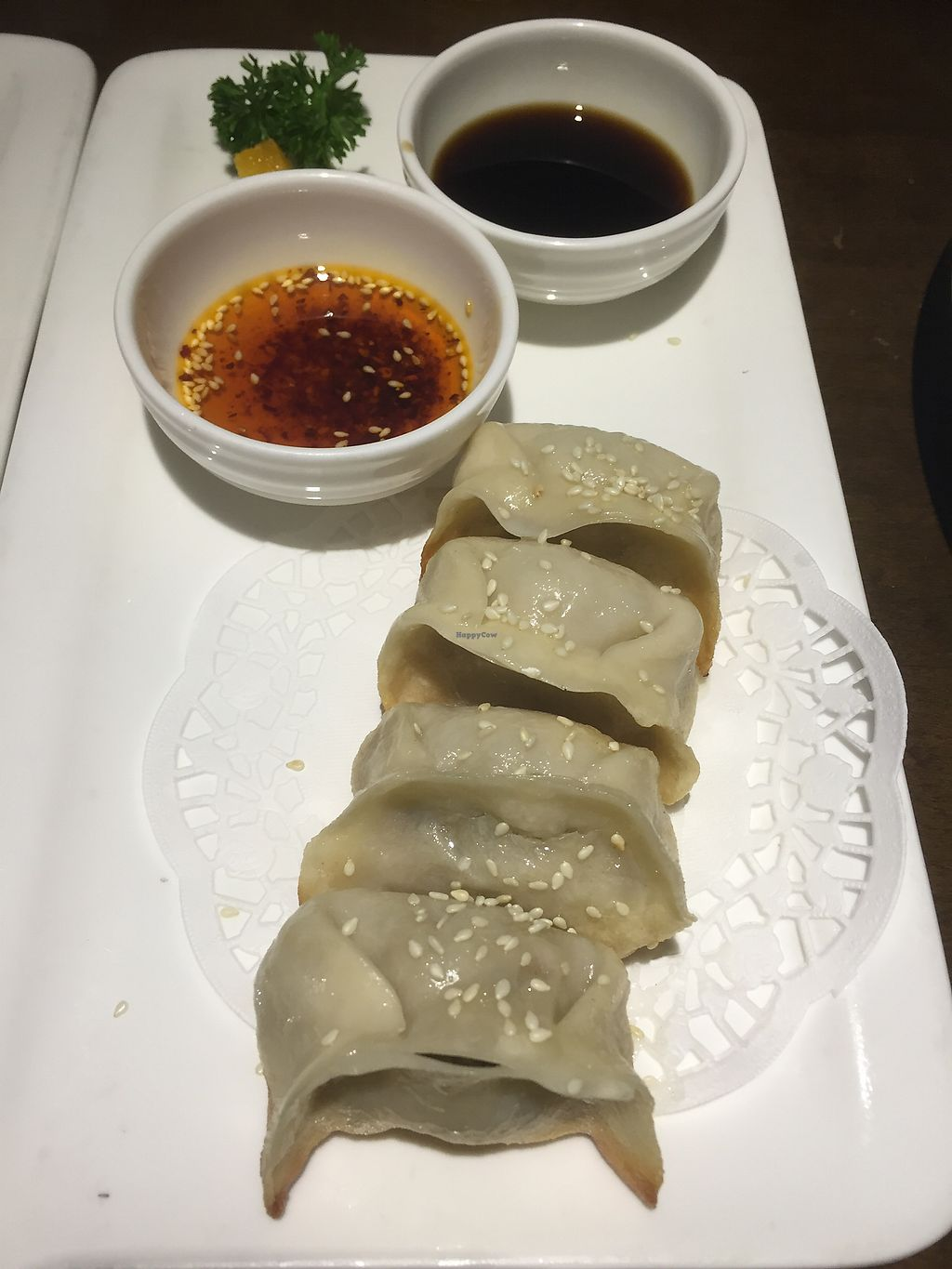 "Photo of Vegetarian Life Style - Zao Zi Shu - JiangNing  by <a href=""/members/profile/H2OAddict"">H2OAddict</a> <br/>Mushroom Potstickers <br/> August 28, 2017  - <a href='/contact/abuse/image/3473/298295'>Report</a>"