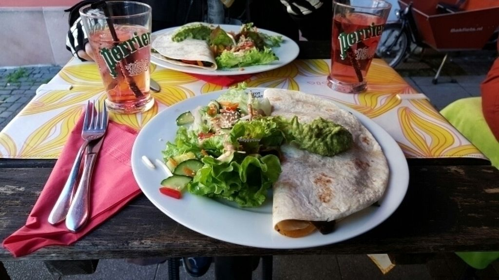 """Photo of Bistrot and Chocolat  by <a href=""""/members/profile/Chrisaen"""">Chrisaen</a> <br/>Vegan quesedilla with guacamole <br/> July 20, 2016  - <a href='/contact/abuse/image/34752/161206'>Report</a>"""