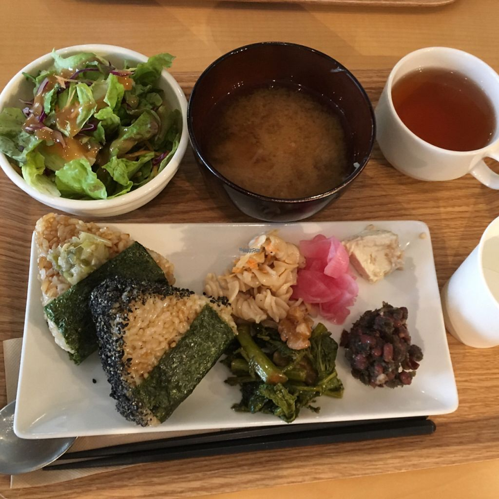 """Photo of Genmai Cafe  by <a href=""""/members/profile/marcodamb"""">marcodamb</a> <br/>delicious vegan platter - 1000¥ <br/> April 16, 2017  - <a href='/contact/abuse/image/34757/248790'>Report</a>"""