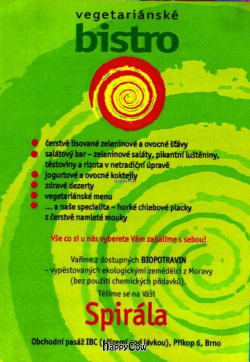"Photo of Spirala Bio Bistro - IBC Centrum   by <a href=""/members/profile/Gudrun"">Gudrun</a> <br/> October 14, 2012  - <a href='/contact/abuse/image/34758/39093'>Report</a>"